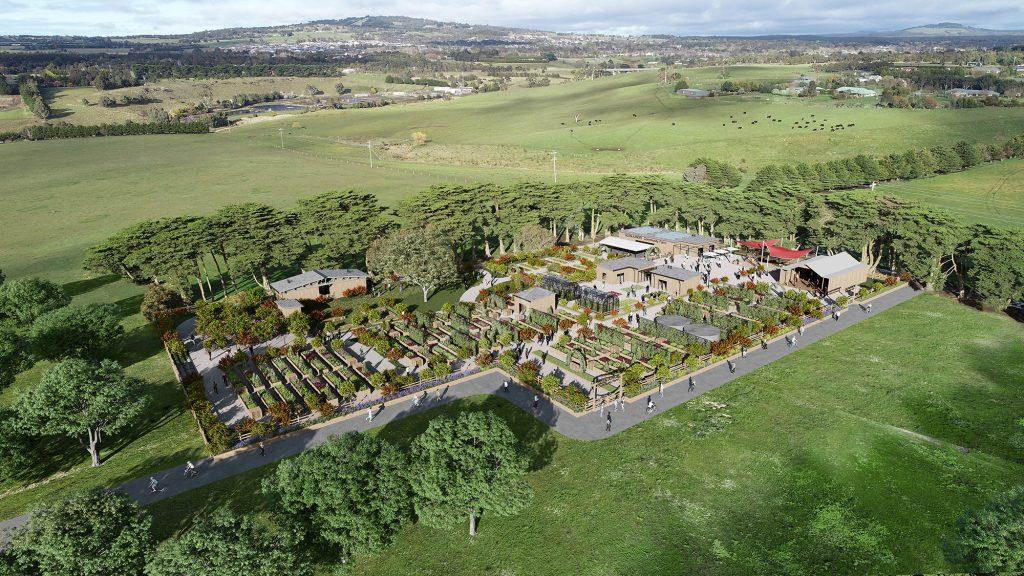 The proposed community food garden at Glen Junor